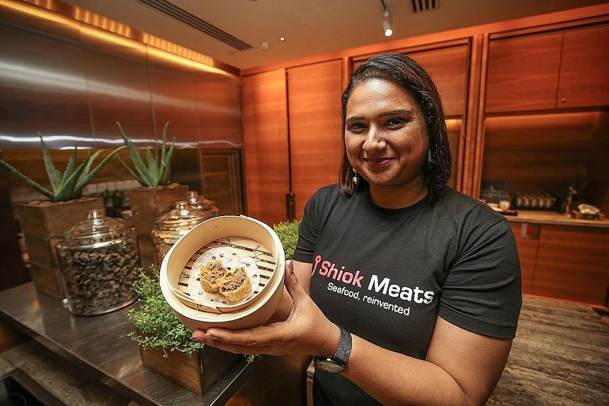 Dr Sandhya Sriram is the co-founder and chief executive of Shiok Meats, which launched its lab-grown shrimp dumplings in March last year.
