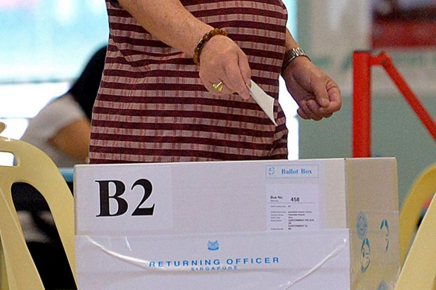 A man casts his vote at Cantonment Primary School, on Sept 11, 2015.