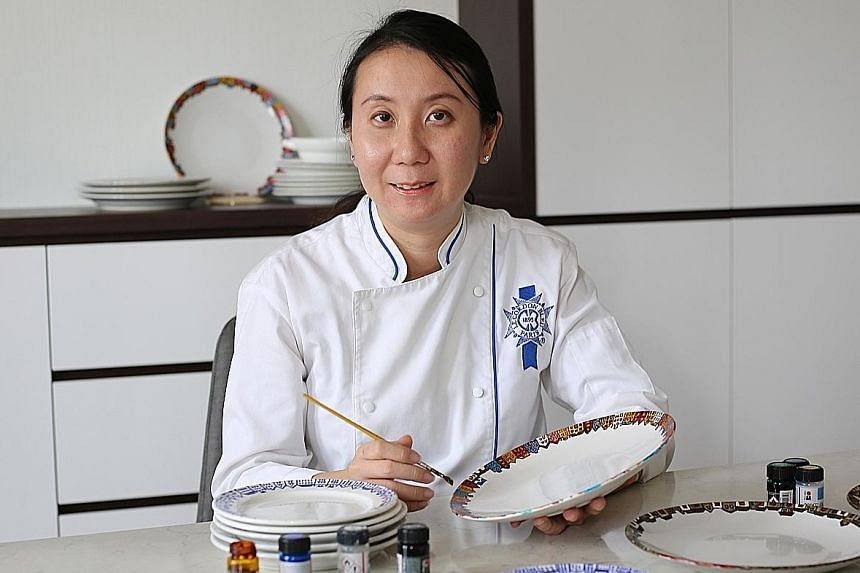 Casual cafe chain Saybons founder Daphane Loke (above) has launched a crowd-funding project, where she handpainted plates from her three outlets to be sold as art. When the chain reopens, it will use biodegradable disposable plates for hygiene purposes.