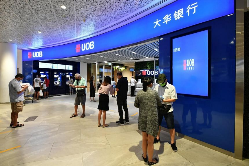 Nine more United Overseas Bank branches will reopen from  June 8.