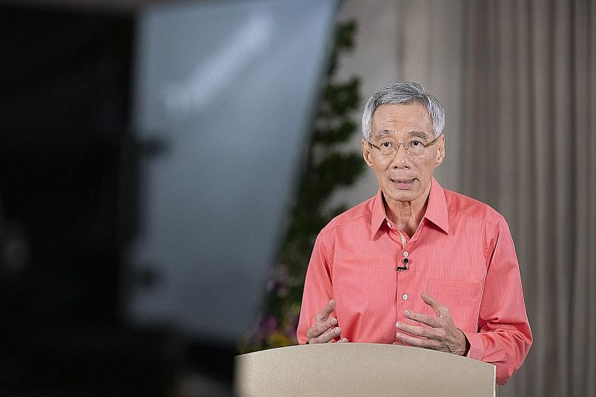 """PM Lee said that while the Government has intervened decisively, its support measures cannot shield Singapore from """"tectonic shifts"""" taking place in the global economy."""