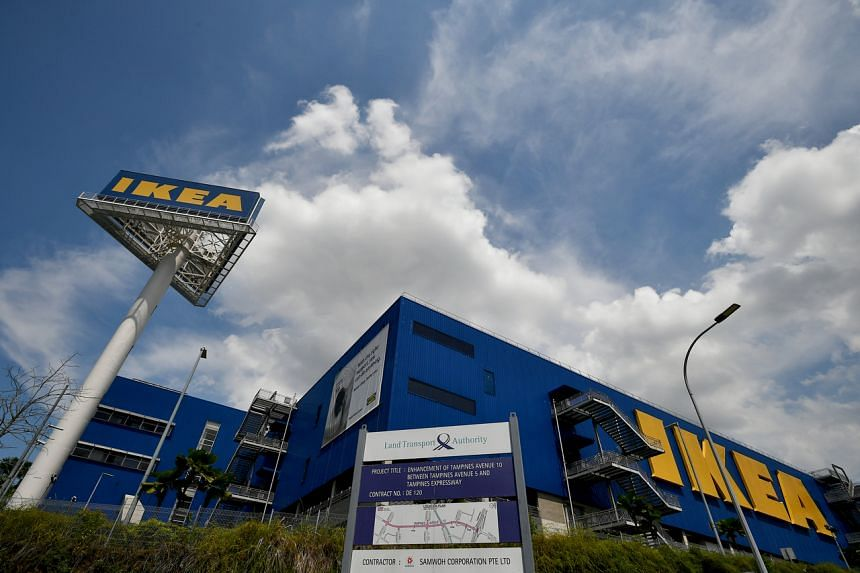 Ikea's two stores - in Alexandra and Tampines (above) - get seven million visits a year in total.
