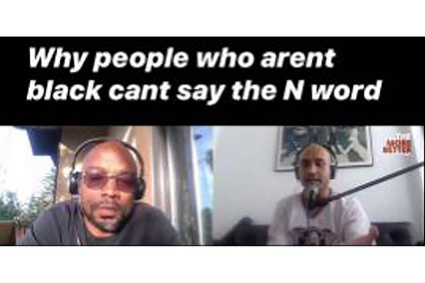 A podcast session with African- American comedian B. Mark Seabrooks (left) enlightened local comedian Fakkah Fuzz (right) on the issue of using the N-word.