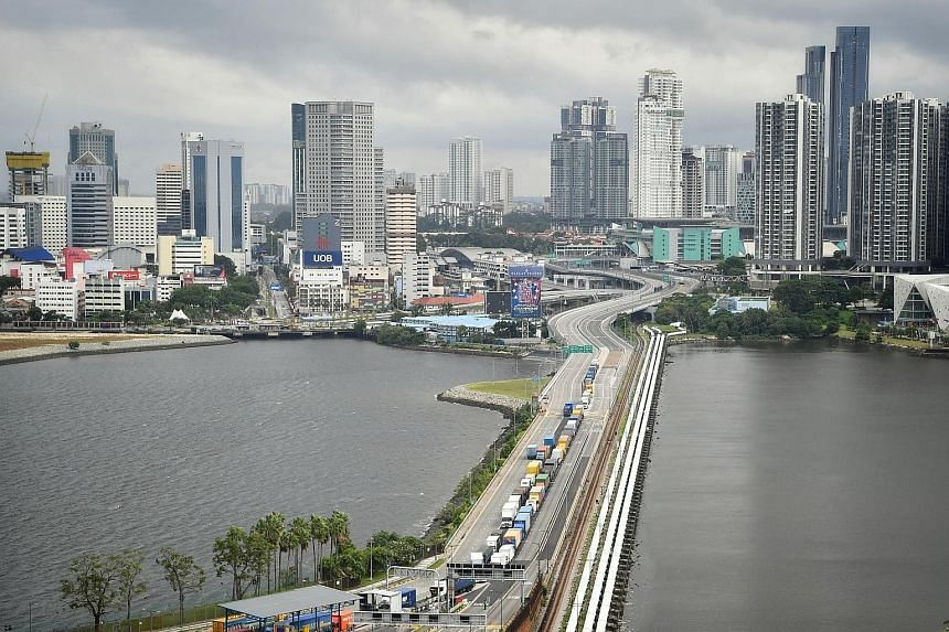 A jam-free Causeway in April. National Development Minister Lawrence Wong said the Singapore authorities are still in the midst of working out details with their Malaysian counterparts to allow travel across the border. ST FILE PHOTO