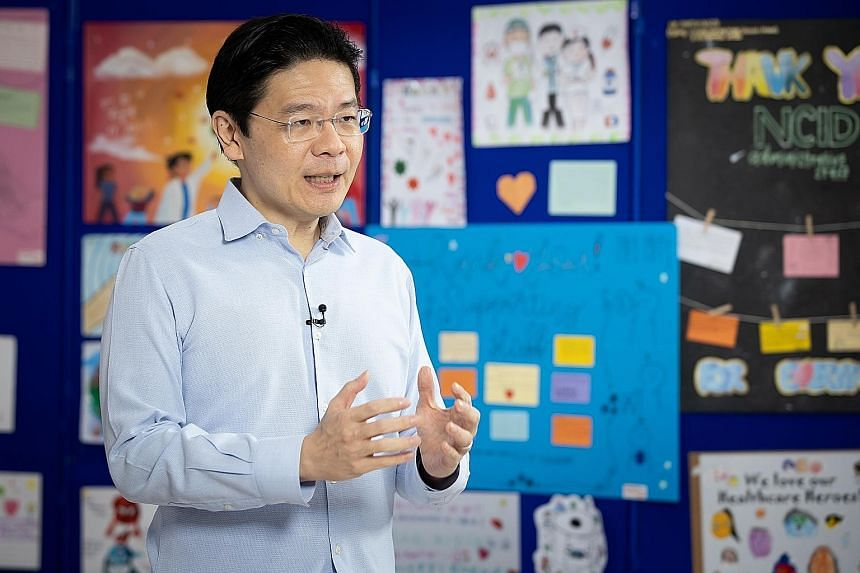 National Development Minister Lawrence Wong, who delivered the second of six national broadcasts yesterday, said that despite the intensive international efforts at developing a vaccine, it will take a long time for any vaccine to be ready and availa