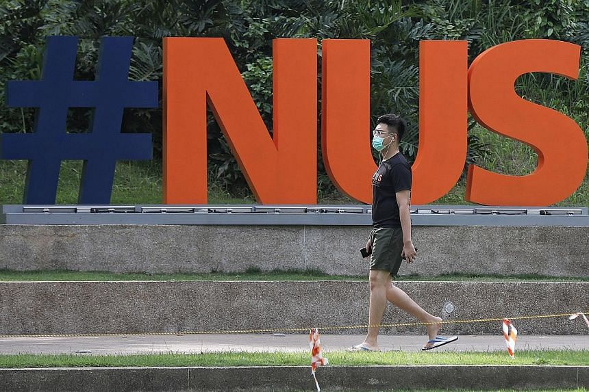 The National University of Singapore, top in Asia and 11th globally, said it was heartened to be placed among the top universities. ST PHOTO: JOEL CHAN