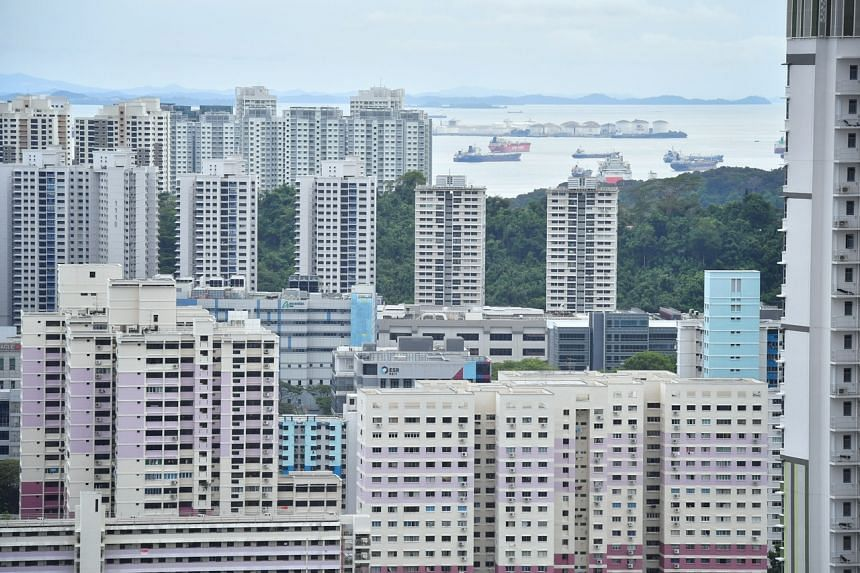 HDB rental volumes in May were down by 45.1 per cent from a year ago.