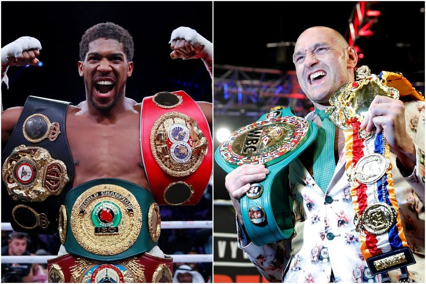 Anthony Joshua (left) and Tyson Fury have now agreed on initial terms for two encounters.