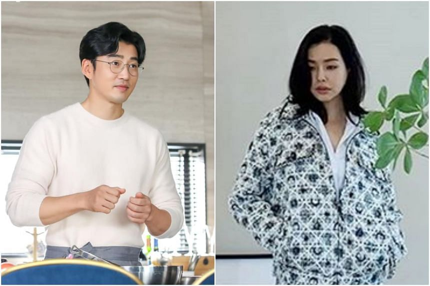 South Korean celebrity couple Yoon Kye-sang (left) and Honey Lee had been dating since 2013.