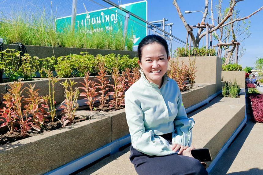 Kotchakorn Voraakhom, landscape architect behind the new linear skypark across the Chao Phraya river.