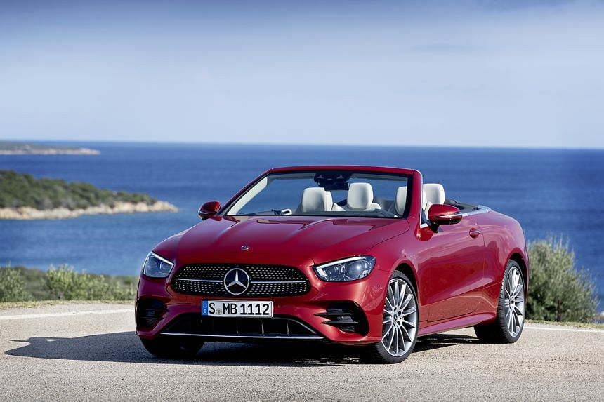 Mercedes-Benz unveils latest E-Class coupe and cabriolet.