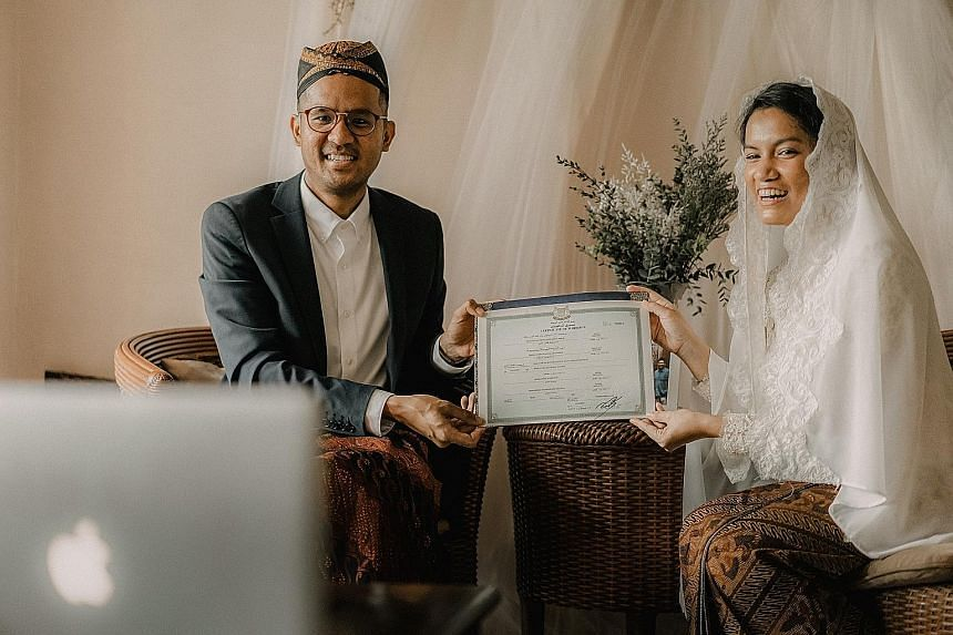 Ms Ashley Chua and her team at Highest Kite Weddings came up with an editing package that includes sprucing up wedding photos and videos taken by guests, after she helped her friend, Ms Debra Raymond (with her husband Firdaus Abdul Malik), edit photos and