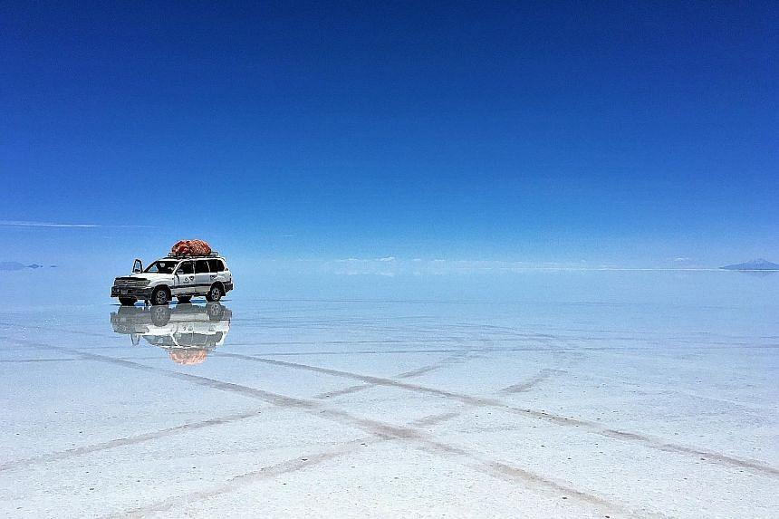 Bolivia's must-see sights include its salt flats (above), Laguna Colorada and Anaconda Canyon.