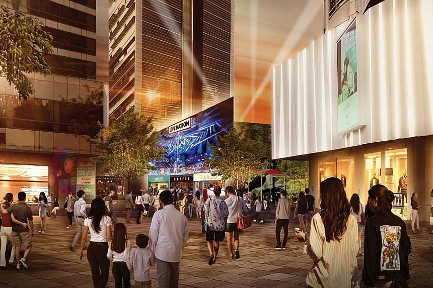 Above: An artist's impression of what the redeveloped Grange Road carpark site could look like when it is operational in the second quarter of 2022. Left: The carpark is expected to cease operating later this year. PHOTOS: LENDLEASE GLOBAL COMMERCIAL