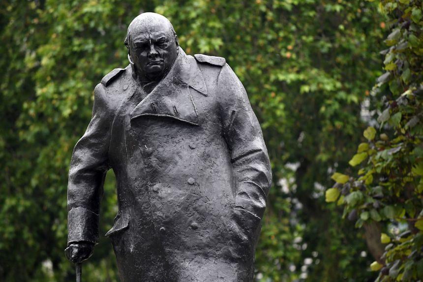 Winston Churchill's statue in Parliament Square in London on June 11.