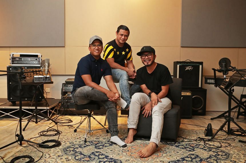 (From left) Former DJs Dzar Ismail, Raja Razie and Dyn Norahim are hosts of Malay- and English-language podcast Okletsgo.