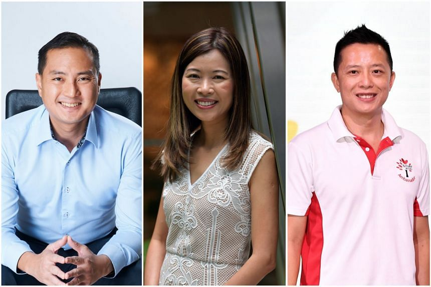 Public servants (from left) Tan Kiat How, Ng Ling Ling and Yip Hon Weng have recently left their posts.