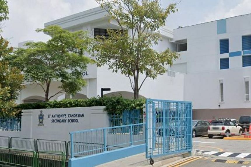 The staff were in close contact with a Secondary 4 St Anthony's Canossian Secondary School student who tested positive for Covid-19.