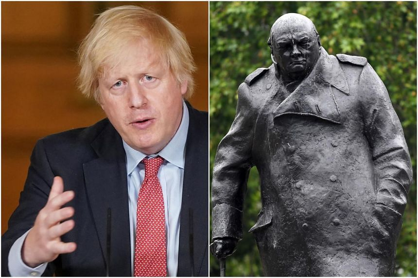 UK Prime Minister Johnson is an admirer and biographer of Churchill, and some of those close to him say he wants to emulate him.