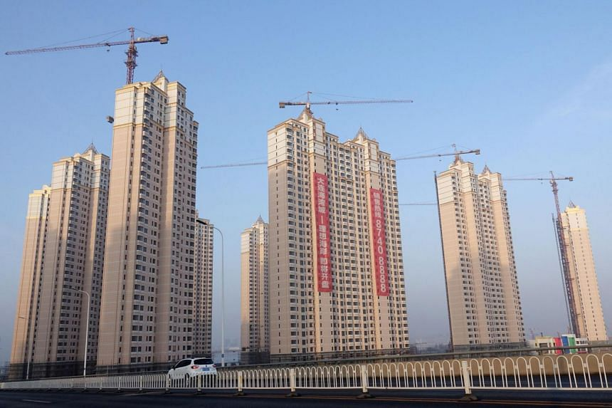 Residential buildings under construction in Jinpu New District, China, on March 19, 2018.