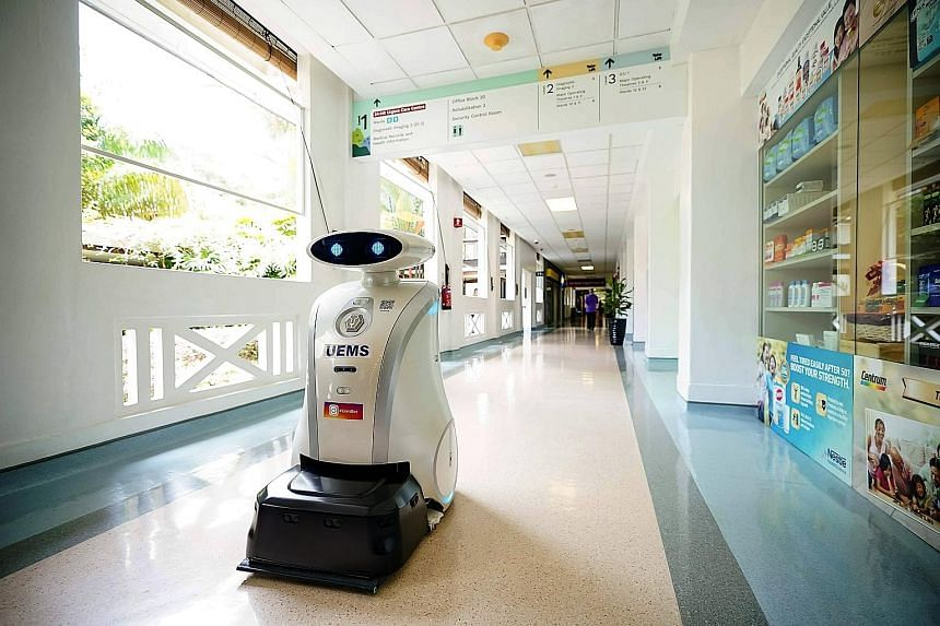 Ella the housekeeping robot is deployed at Alexandra Hospital to boost its cleaning regime.