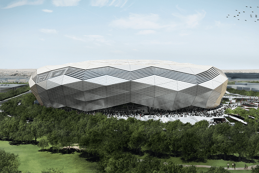 The Education City Stadium is the second of seven facilities being built from scratch.