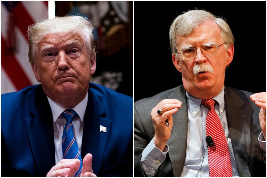 US President Donald Trump said his former national security adviser has classified information in his book.