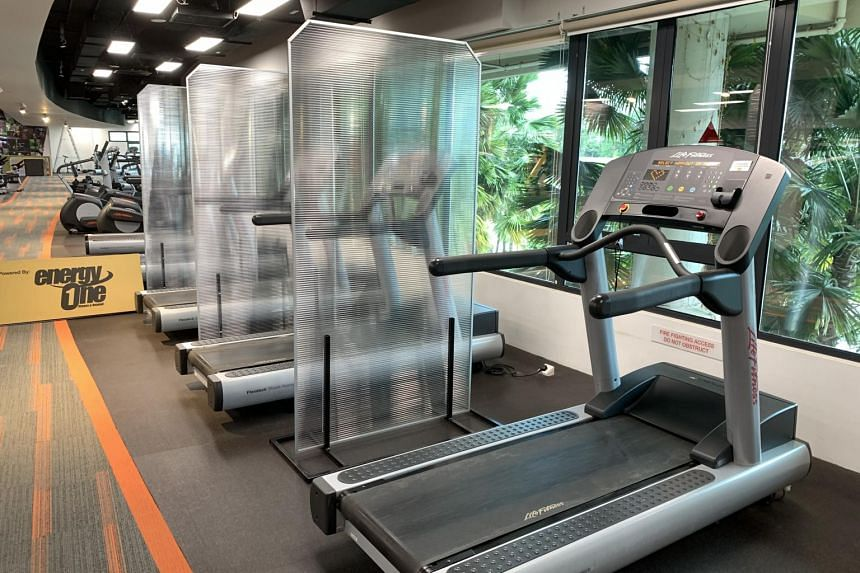 Shields being trialled for cardio equipment at the EnergyOne gym at Safra Punggol.