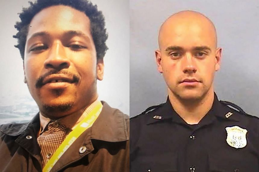 Within 24 hours of the Atlanta shooting death of Mr Rayshard Brooks (left), the city's police chief had resigned and Garrett Rolfe (right) – the officer who fired the fatal shot – had been dismissed.