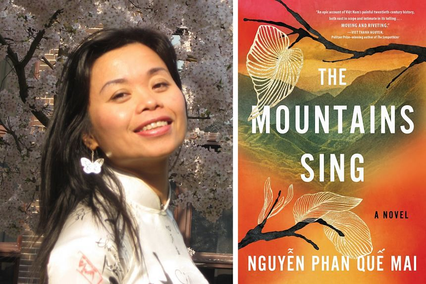 Nguyen Phan Que Mai (left), who took seven years to write The Mountains Sing (right)