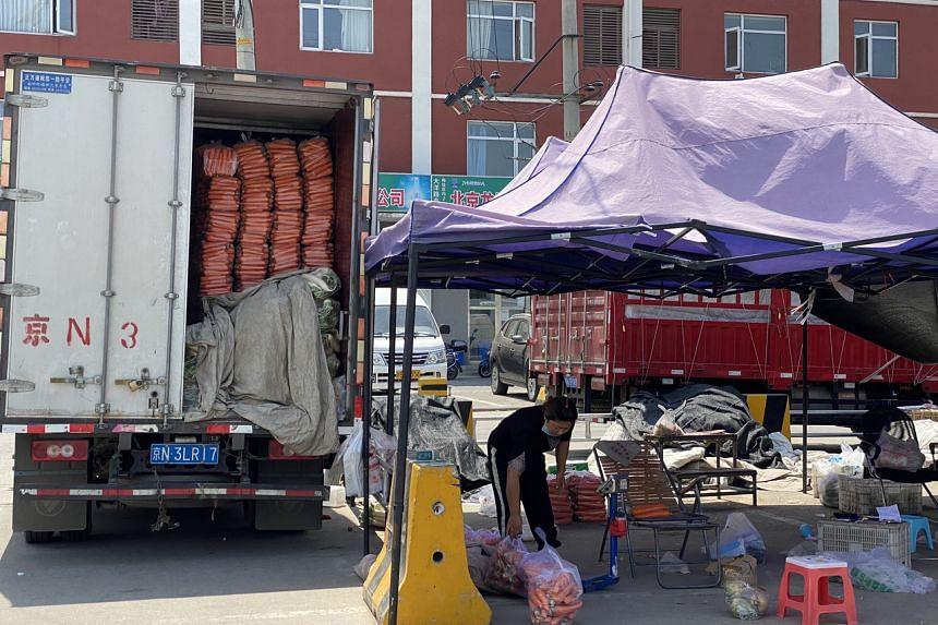 The Dayanglu market in Beijing on June 16, 2020.