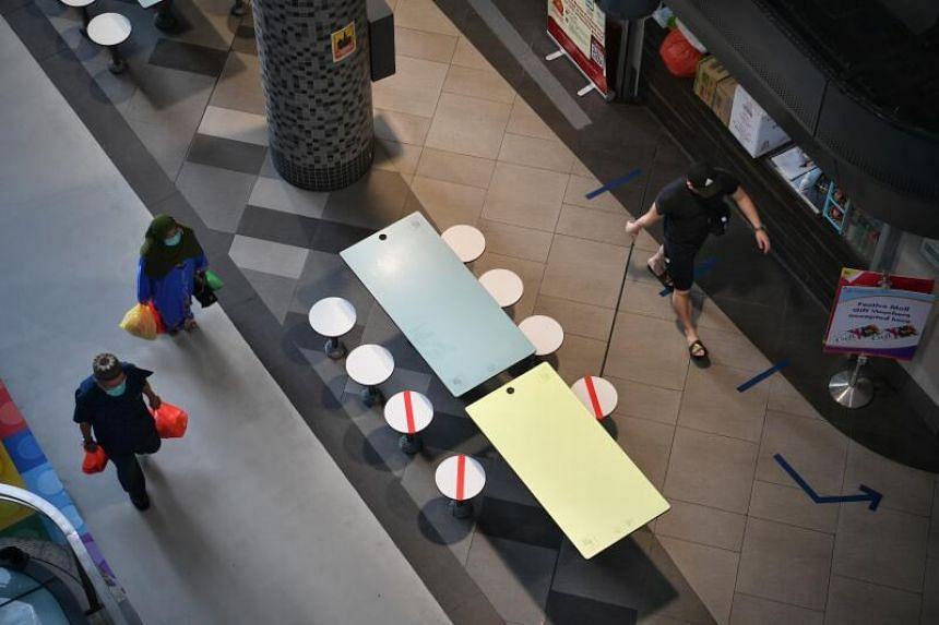 Seats and tables will be marked out for dining groups of different sizes, of between one and five people.