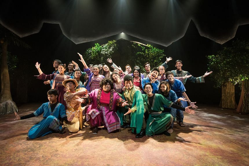 In Esplanade Pesta Raya theatre production Alkesah, colourful characters from Malay folklore stay in the same kampung.