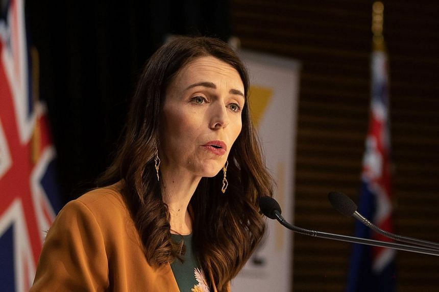 New Zealand's Prime Minister Jacinda Ardern speaks during a press conference in Wellington on June 8, 2020.