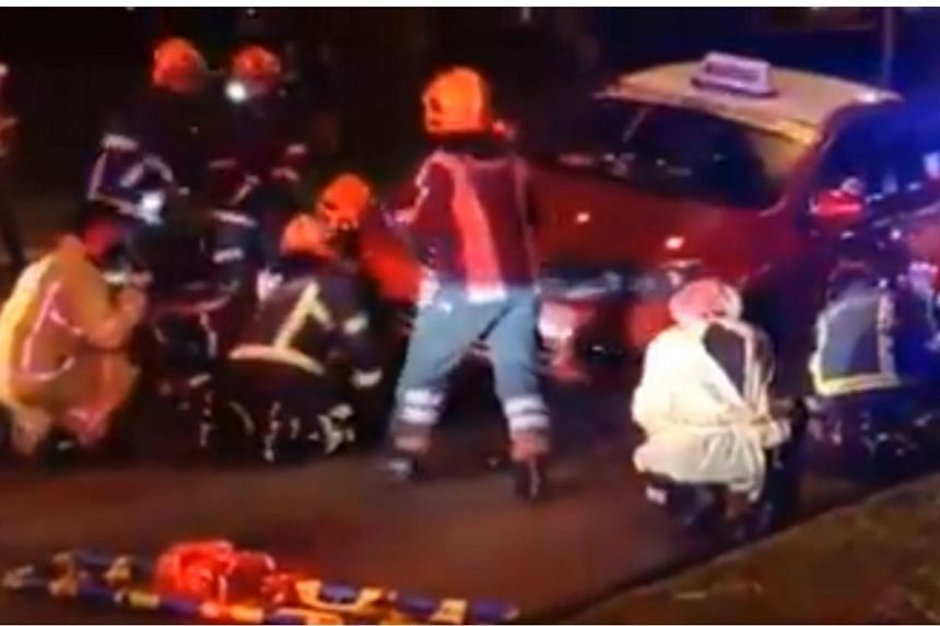 A video of the incident was uploaded on Facebook page Singapore Road Accident.