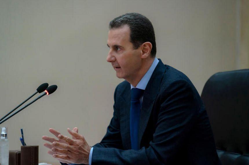 The United States had imposed sanctions on Syrian President Bashar al-Assad and his wife to choke off revenue for his government.