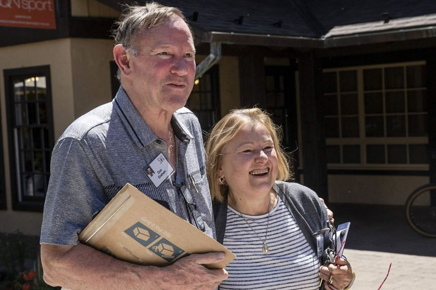 A July 2019 photo shows Voice of America's Amanda Bennett and her husband Don Graham, former publisher of The Washington Post.