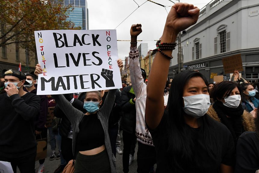 Solidarity rallies have been held across Australia to demand racial equality.