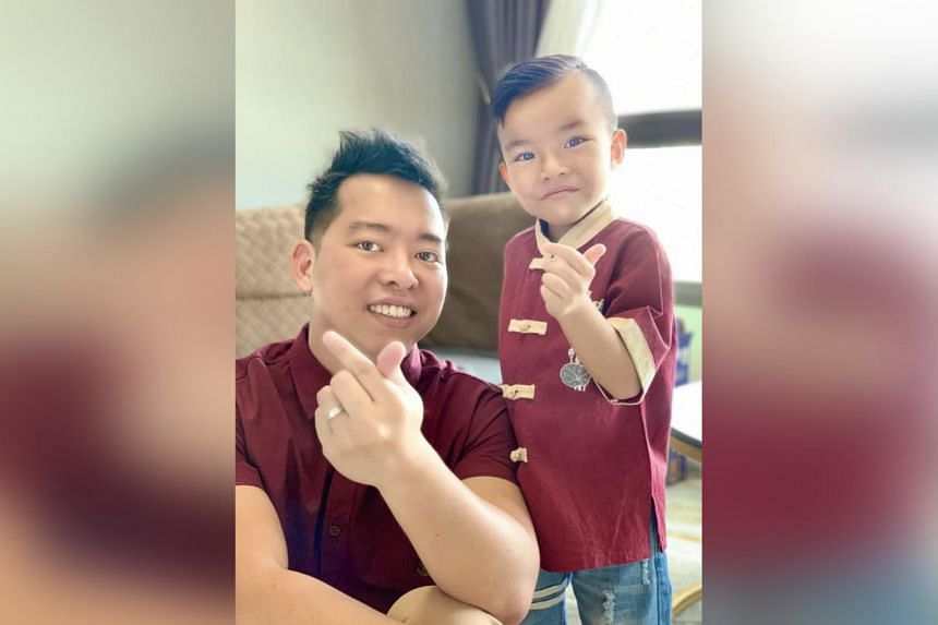 Clarence Choo quit his job as a call centre manager to spend more time with his son, Kashton Choo.