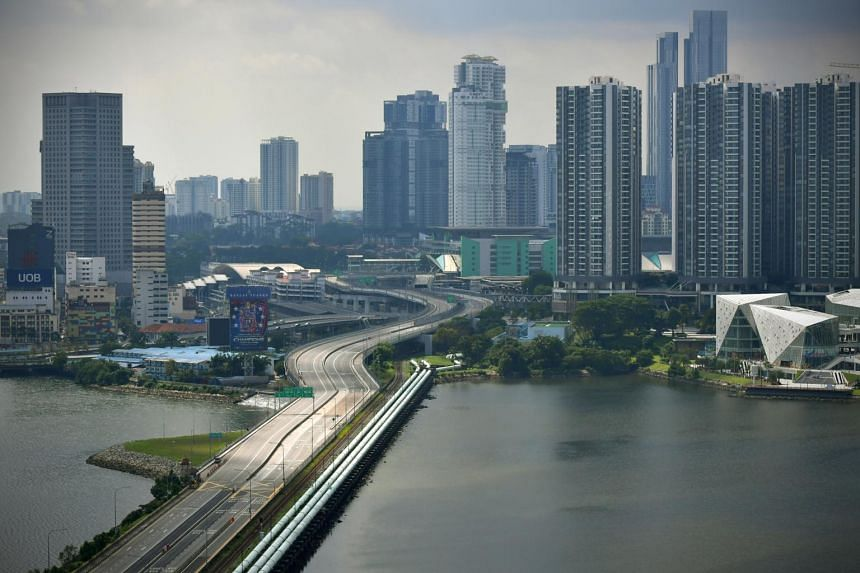 The Causeway between Malaysia and Singapore is seen empty on June 14, 2020.