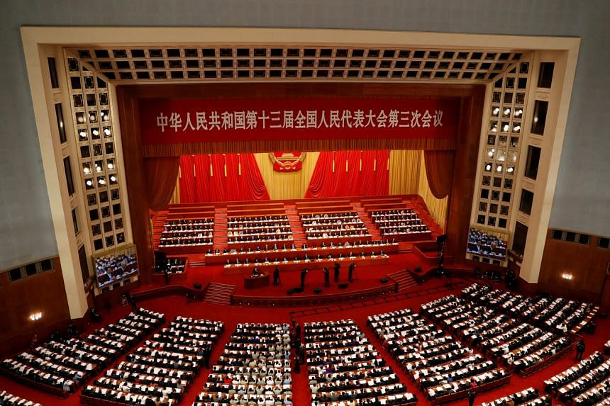 The opening session of the National People's Congress in Beijing on May 22, 2020.