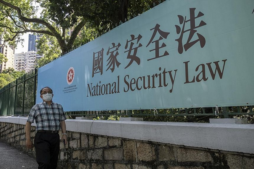 A government-sponsored advertisement promoting the new national security law in Hong Kong. Beijing has seen increasing urgency for such legislation since the territory was last year roiled by widespread, often violent protests that have politically s