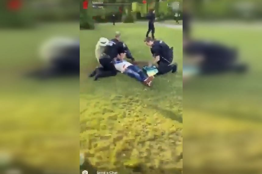 A screenshot from a video said to be of the scene posted online.