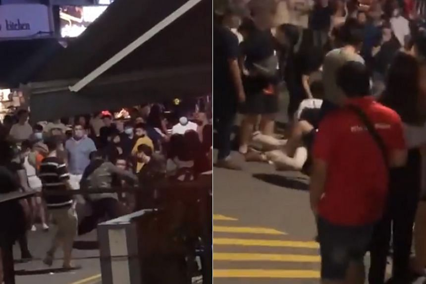 Two fights broke out at Holland Village on June 19, 2020.