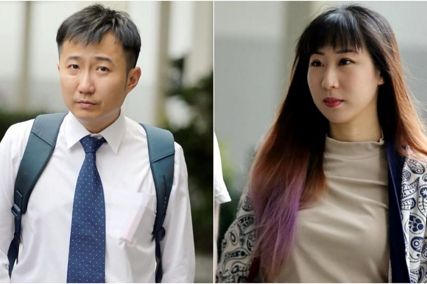 Clarence Teo Shun Jie (left) admitted that he assaulted Ms Rachel Lim En Hui on two separate occasions.