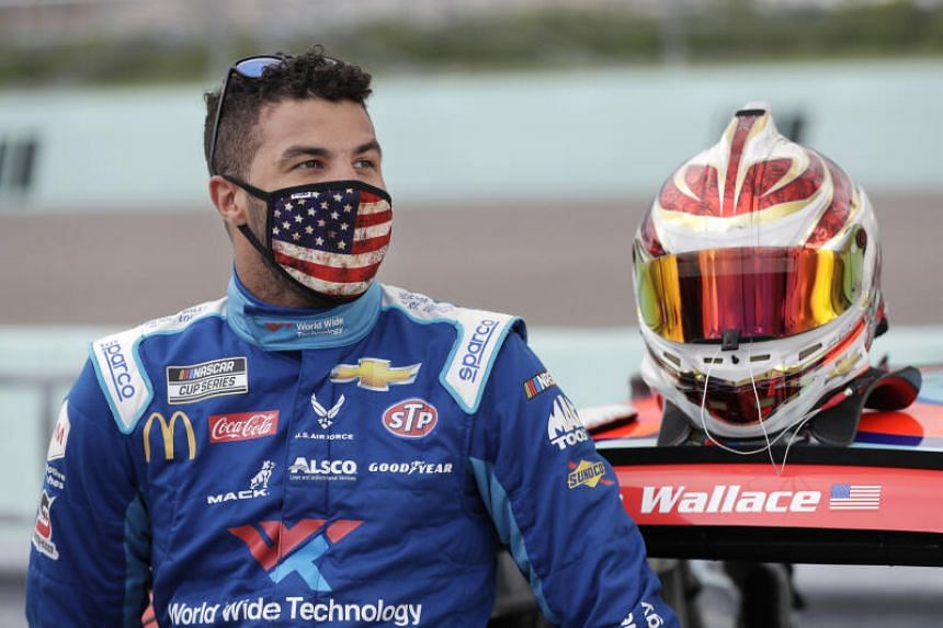 Bubba Wallace is the only black driver who races full-time in Nascar's top Cup series.