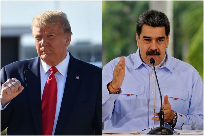 Trump says he would only meet Venezuela's Maduro to discuss exit