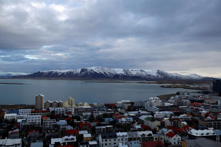 A general view shows the city of Reykjavik.