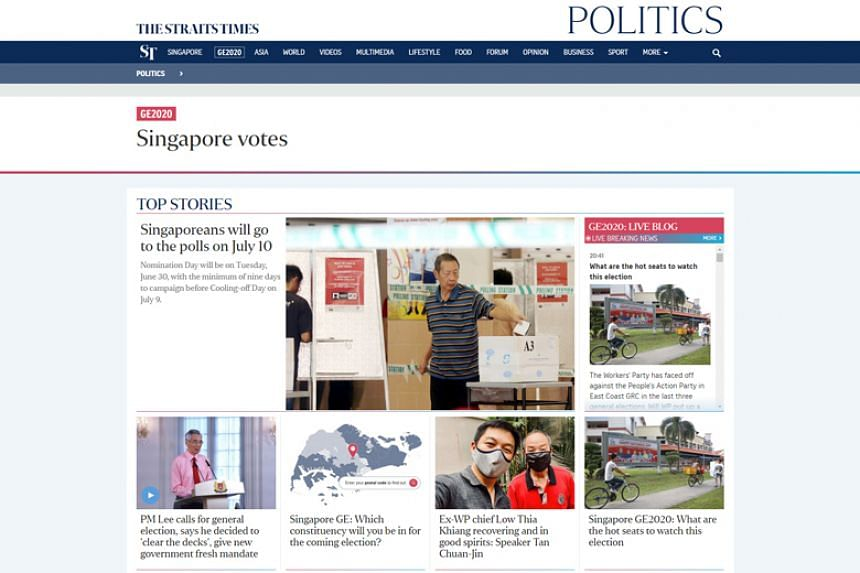 The Straits Times will be bringing all the action from the general election to readers via our multimedia coverage across print and online platforms.