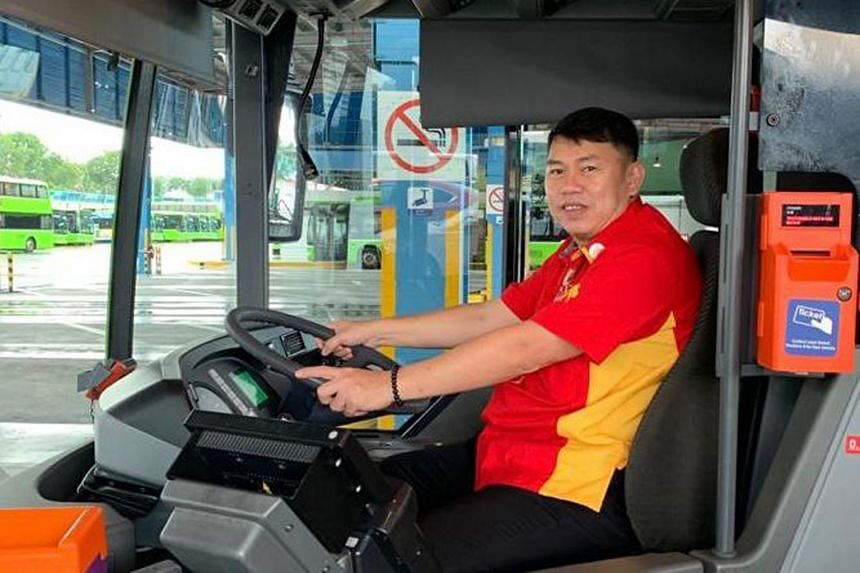 Mr Poh Kian Teck, 50, is among 90 Singaporean taxi and private-hire car drivers to have received training to become bus captains since the beginning of this year.
